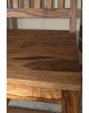 Krzesło drewniane PU Brown Palisander