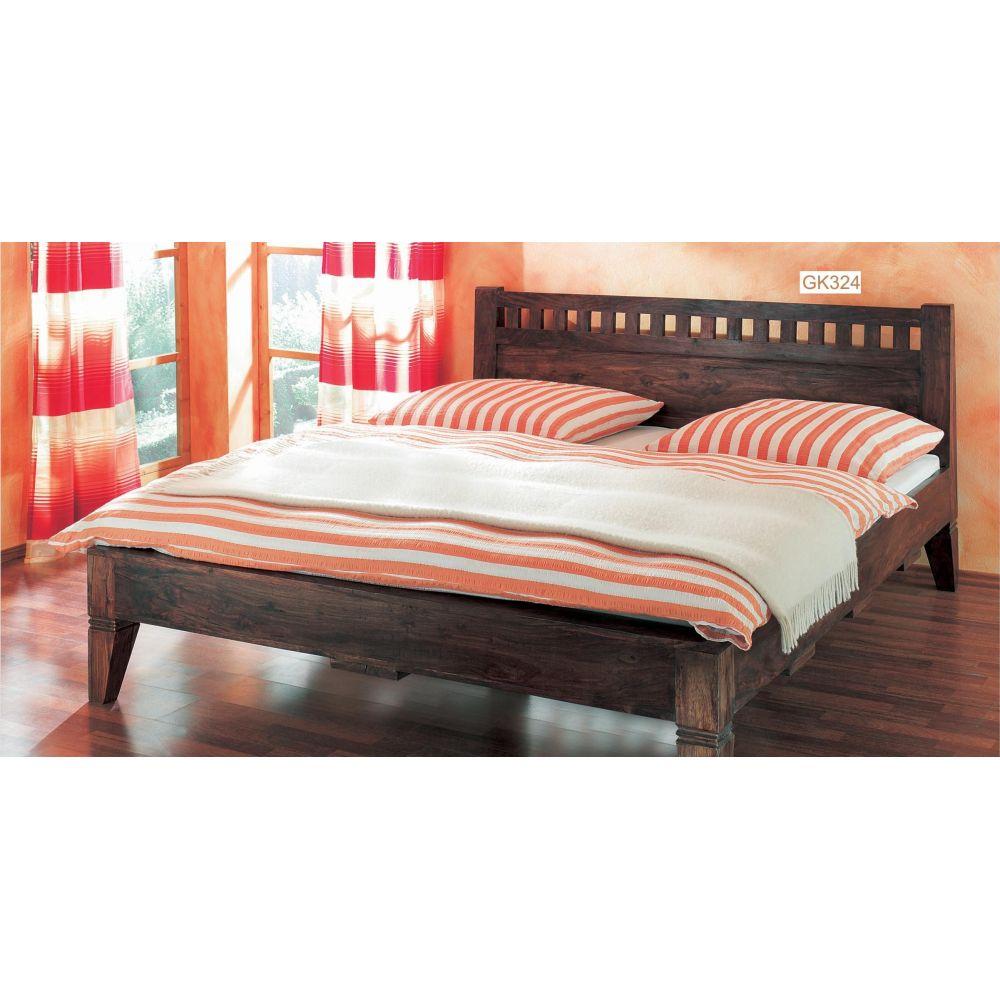 łóżko Drewniane 180 X 200 Walnut Mandallin Meble Kolonialne