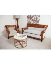 Brown M-1958 Fotel Sofa 80x76x77