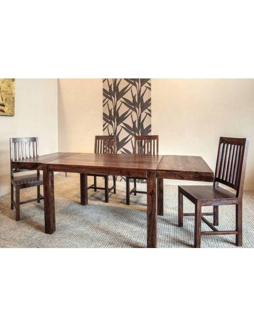 Stół drewniany jadalniany 120 / 210 Oiled Matt Palisander