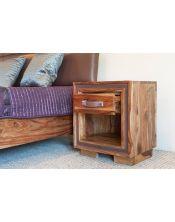 Stolik drewniany / Szafka nocna Milan (1+1)