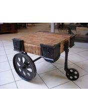 Stolik kawowy na kółkach z drewna mango 48x60x60 Meliard