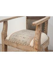 White M-6836 62x62x86 Krzesło / Fotel Loft Industrial