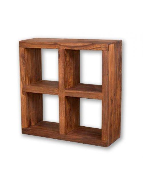 Biblioteczka Kwadrat ( 2 x 2 ) PU Brown Palisander