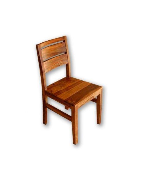 Krzesło z drewna Spring PU Brown Palisander