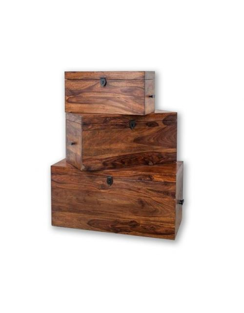 Skrzynia Medium Light Walnut Palisander